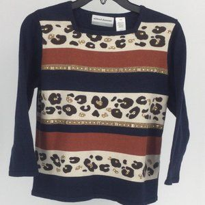 Alfred Dunner, Animal print Sweater Size M
